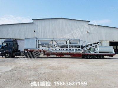 黑龙江移动配煤机生产线客户发货